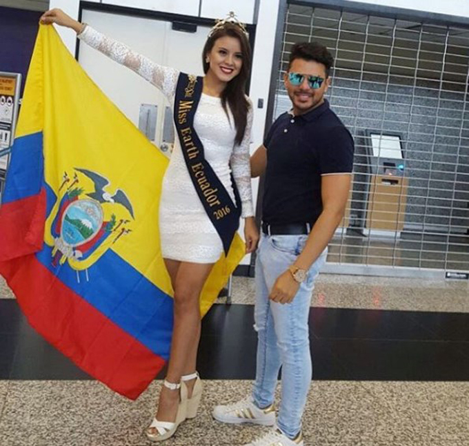Oscar Salinas y Miss Earth 2016