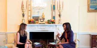Michelle Obama y Melania Trump