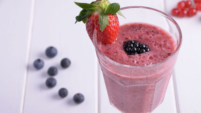 smoothie de frutos rojos